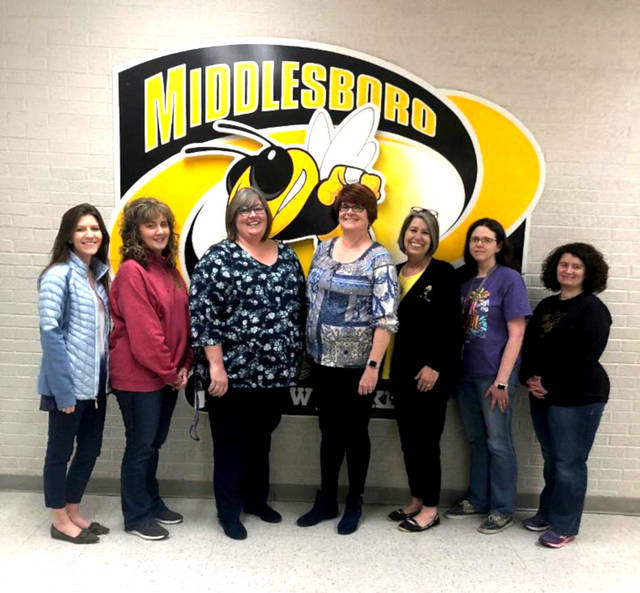 C3WP participants Madison Branscom (10th), Wendy Pillion (8th), Dawn Proffitt (12th), Suzanne Jackson KWP C3WP Co-Director, Sandy Evans (7th), Rhonda Goodman (11th), and Beth Fortner (9th).