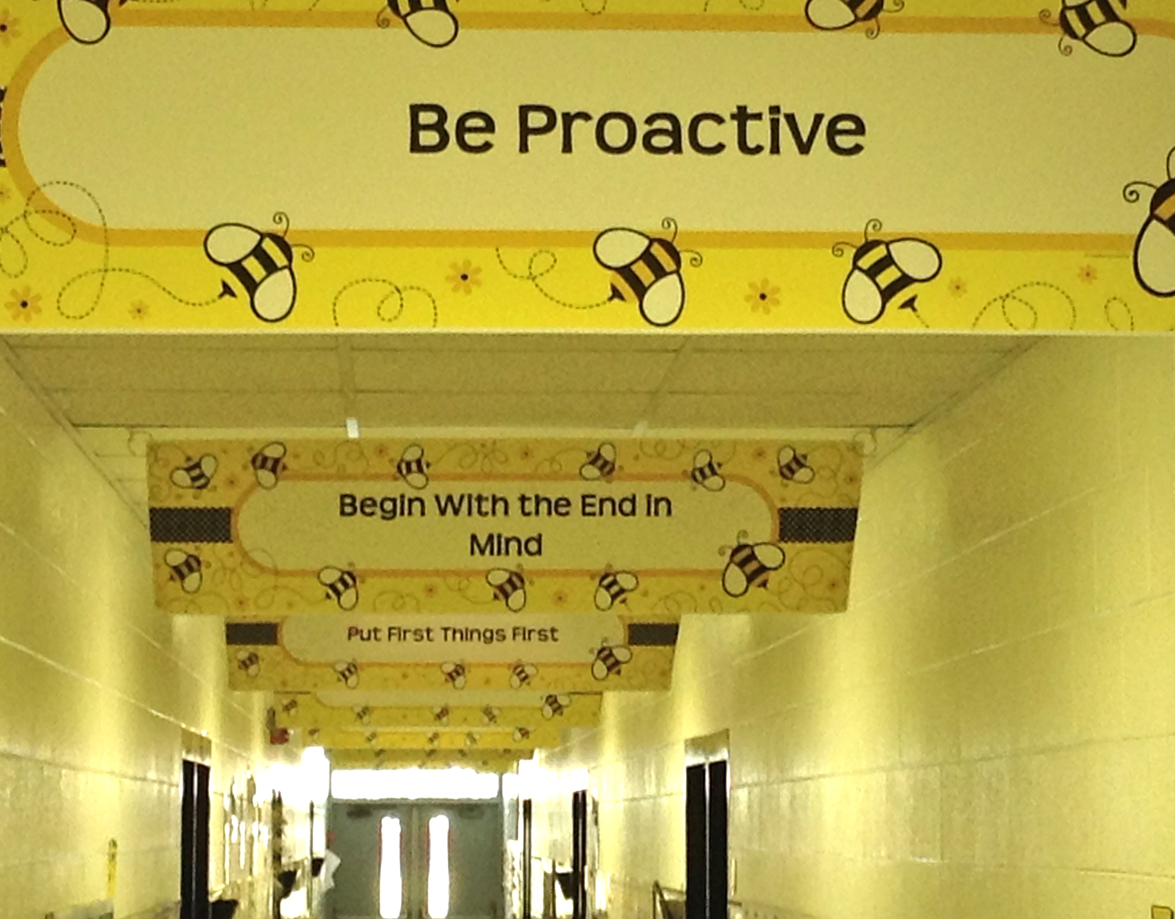 7 Habits Hallway at MES
